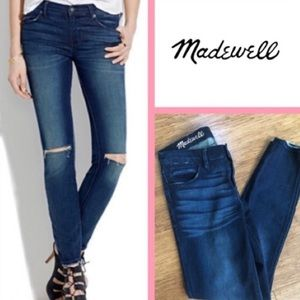 Madewell | Skinny Skinny Ankle Distressed Jeans 26